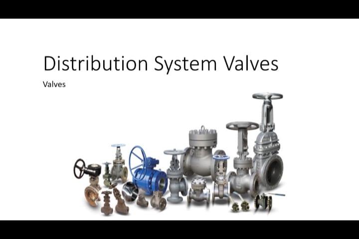 Water Distribution   Valve types